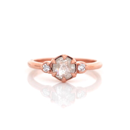 Trillion Skinny Diamond Ring