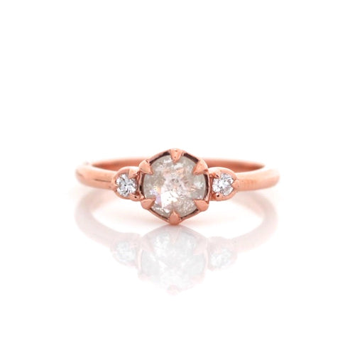 Luna Round Diamond Ring - Yuliya Chorna Jewellery