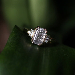 2.01ct Misceo Emerald Cut Diamond Ring in Yellow Gold - Ready To Ship - Yuliya Chorna Jewellery