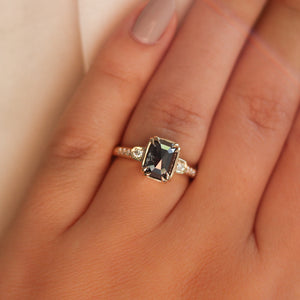 2.07ct Nebula Black Diamond Ring - ready to ship - Yuliya Chorna Jewellery