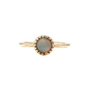 Opal Round Stacking Ring - Yuliya Chorna Jewellery