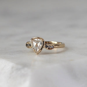 Athena Pear Rose Cut Diamond Ring - Yuliya Chorna Jewellery