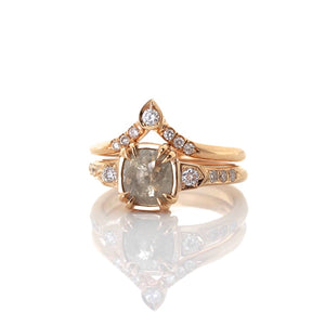 Pear Diamond Point Band - Yuliya Chorna Jewellery