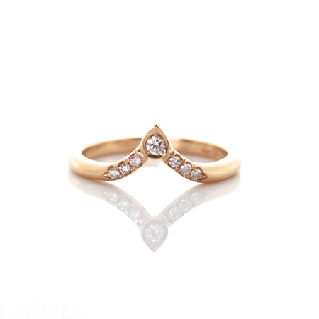 Simple Diamond Touch Ring