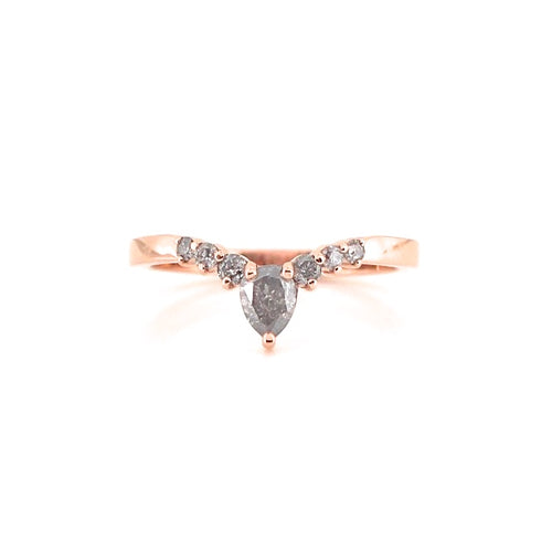 Pear Sahara Diamond Band - Yuliya Chorna Jewellery