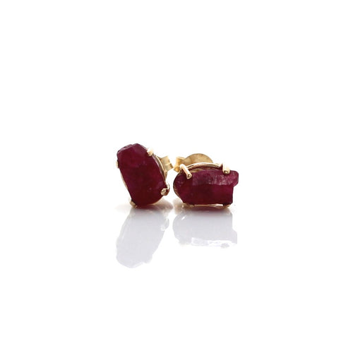 Ruby Light Gold Studs