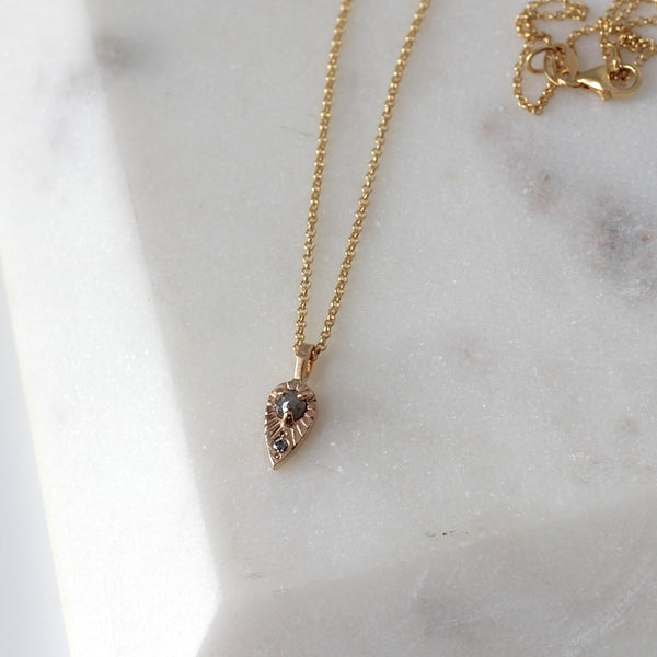 Tear Drop Diamond Sun Necklace