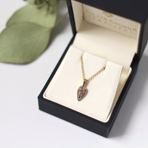 Tear Drop Diamond Yellow Gold Sun Necklace - Yuliya Chorna Jewellery
