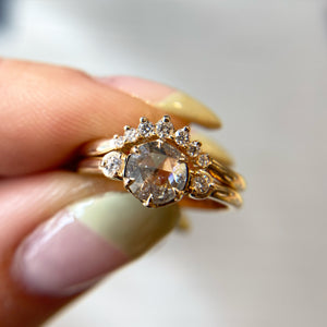 Sahara Diamond Crown Band In Yellow Gold, Ready To Ship - Yuliya Chorna Jewellery