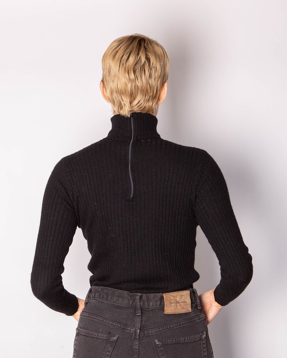 Scottish Cashmere Ribbed Turtleneck