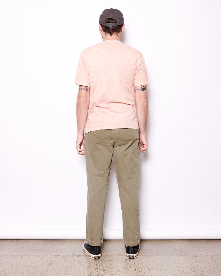 Natural Dyed Slub Tee - Madder Root