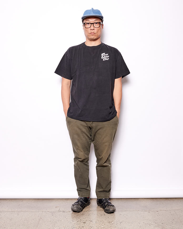 Sustainable East West Shop Script Logo Tee