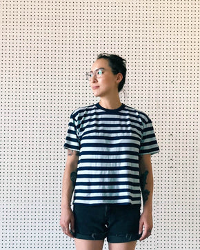 Sustainable Indigo Stripe Tee