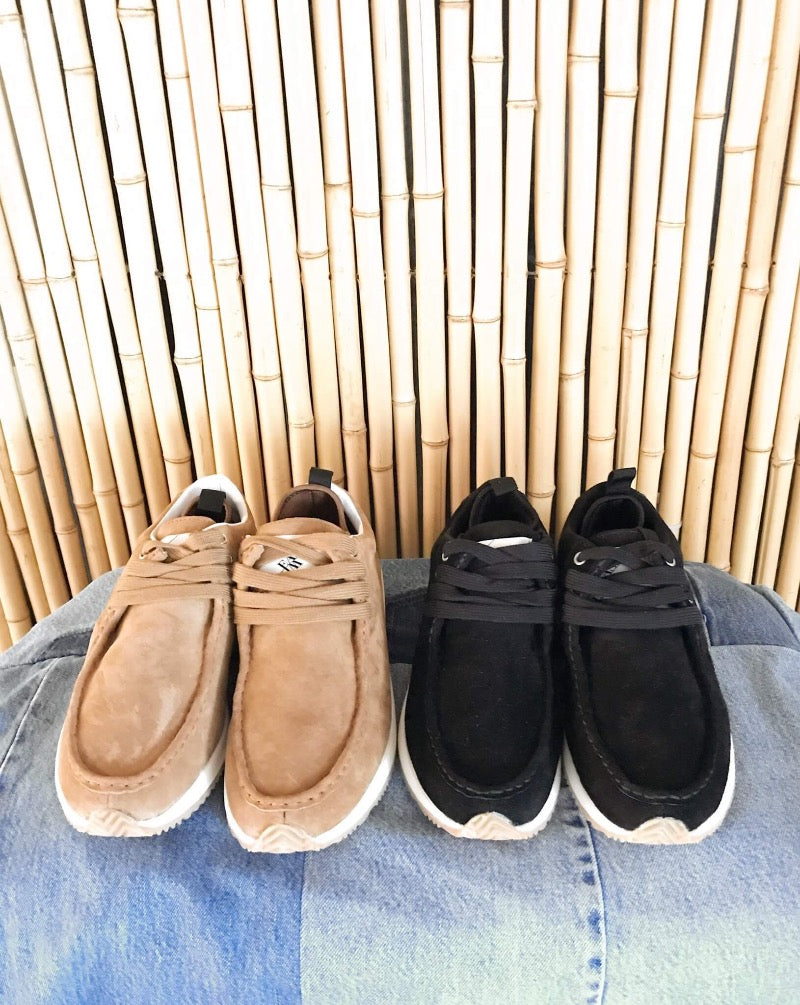 Sustainable Suede Moccasin Trainer