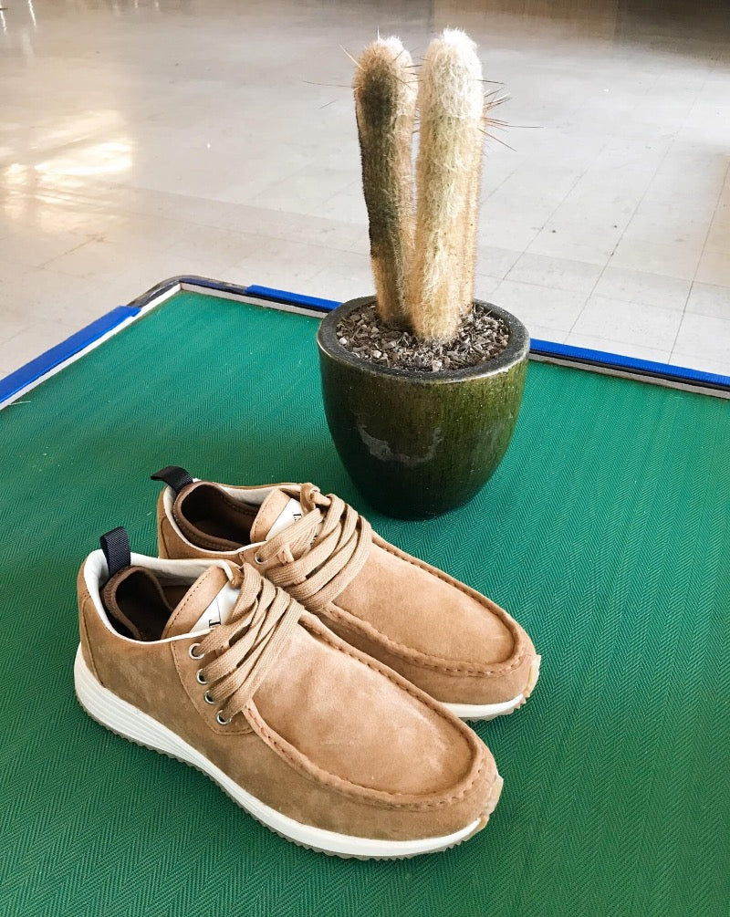 Surplus Suede Trainer - Tan