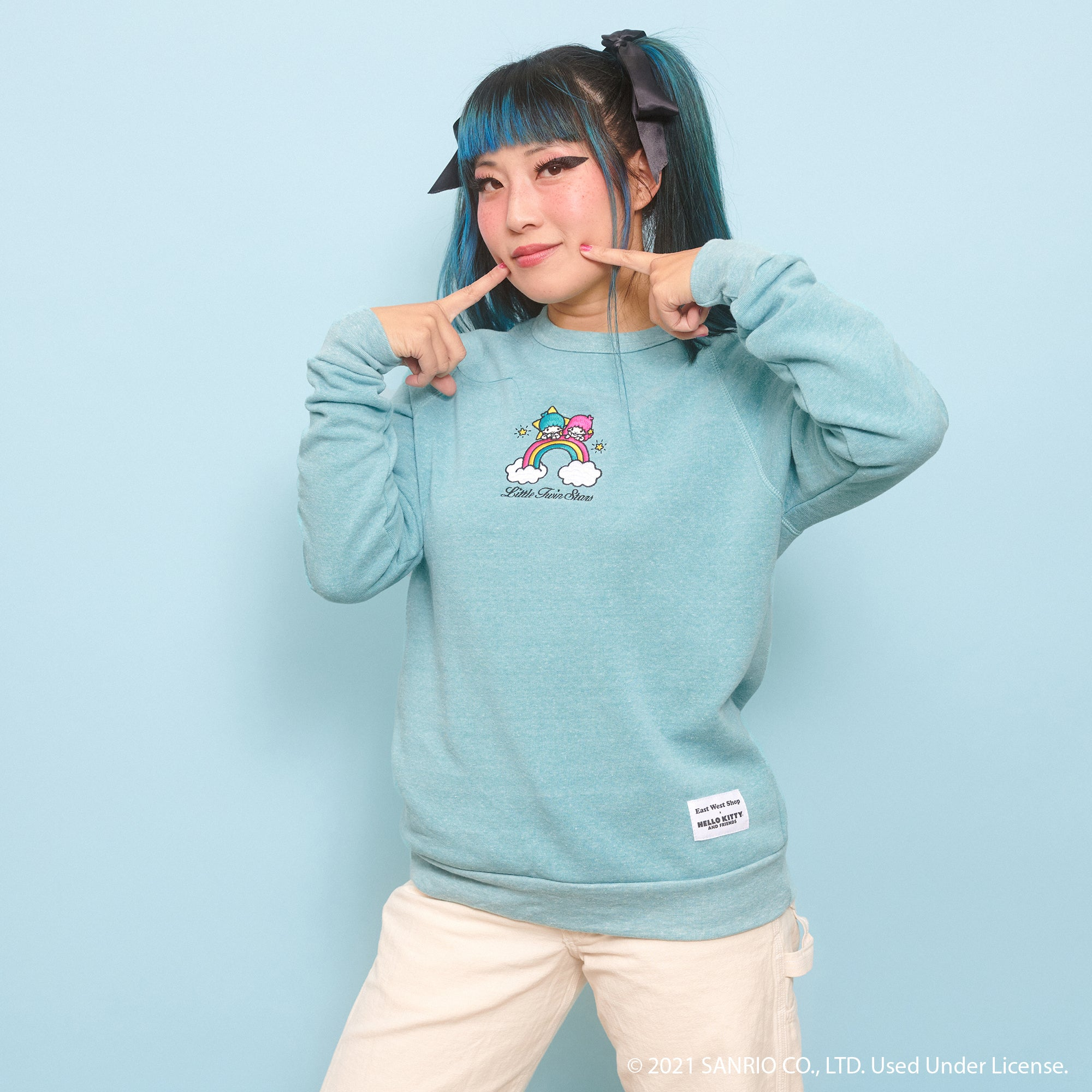 Little Twin Stars Crew Neck - Blue