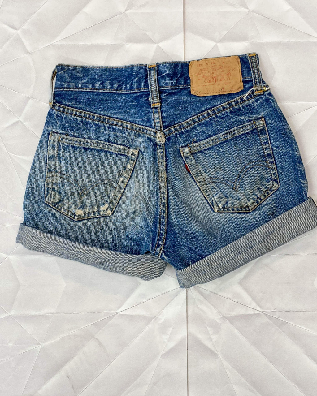 Vintage Levi Cutoff Denim Shorts - Mini Redline