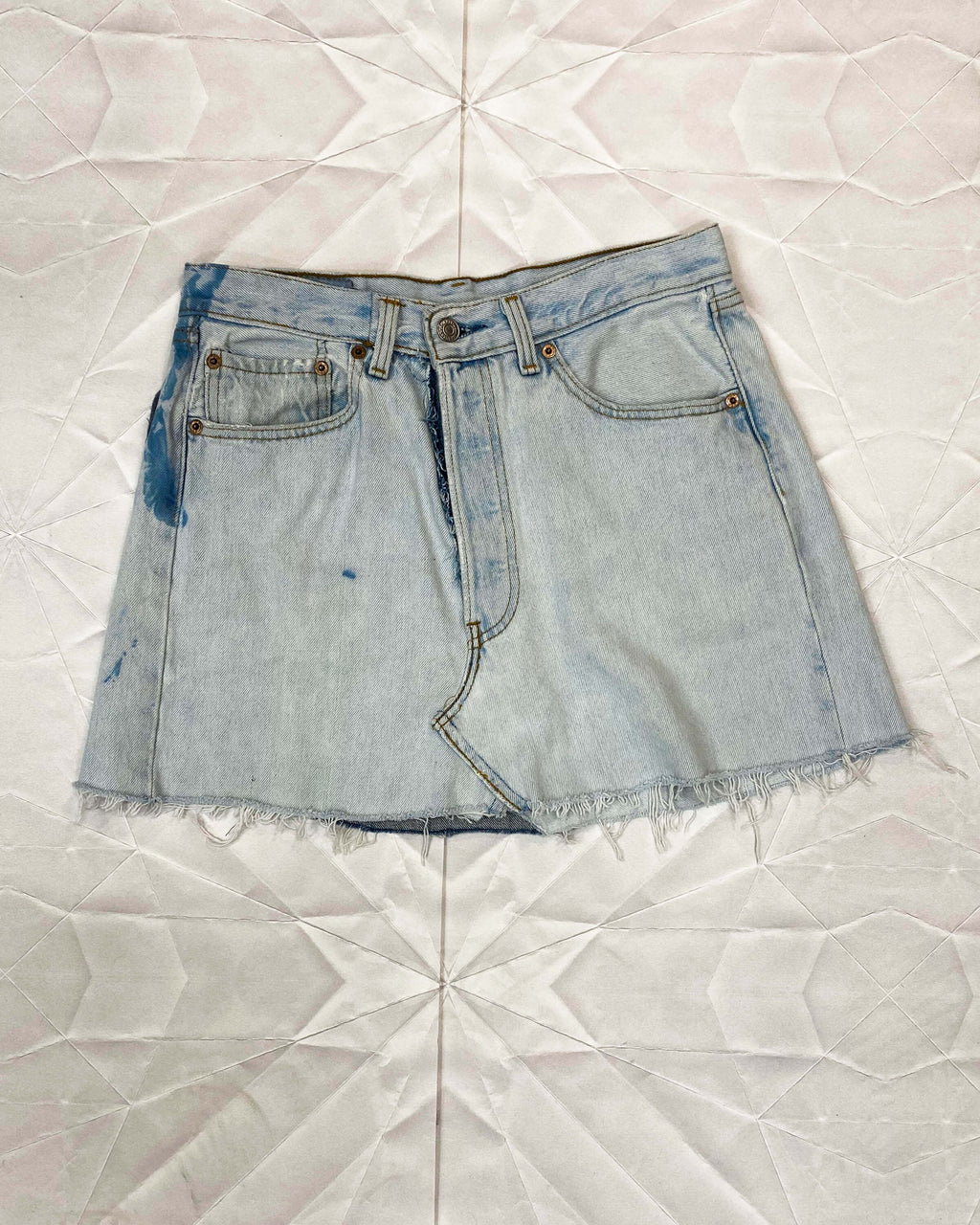 Recycled Patchwork Levi's Denim Skirt