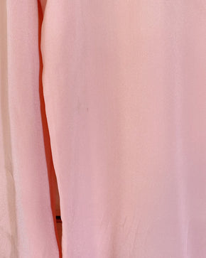 Vintage Silk Blouse with Tie - Pink