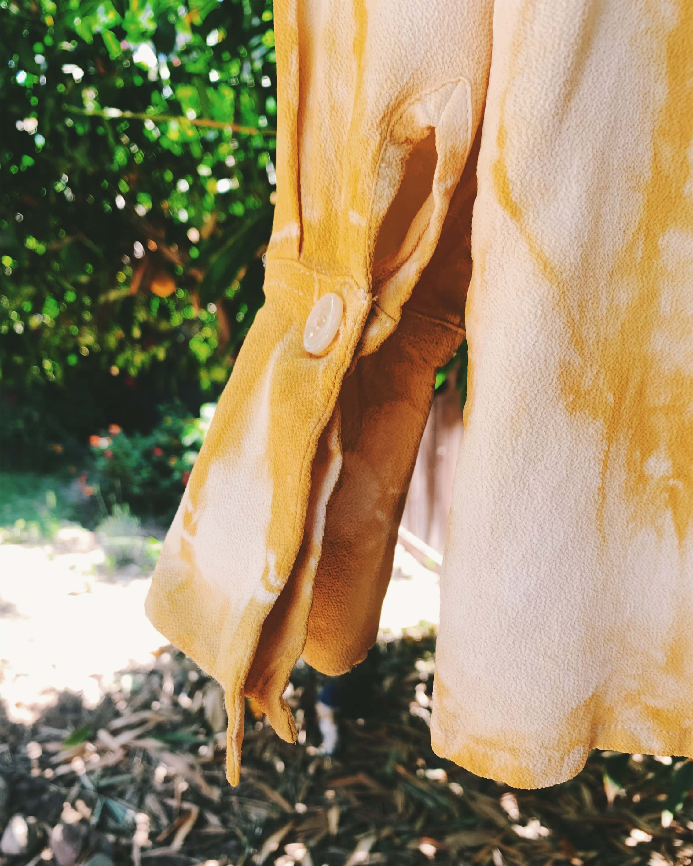 Natural Dyed Vintage Rayon Blouse - Onion + Avocado
