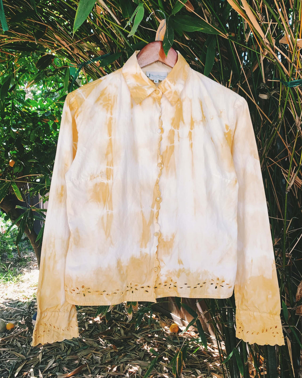 Natural Dyed Vintage Cotton Blouse - Onion
