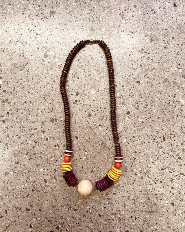 Deadstock 1990's Wooden Statement Necklace