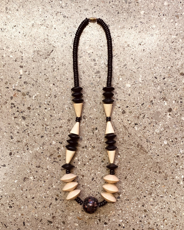 1990's Wooden Statement Necklace