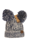 C.C Double Pompom tuque- Hat23 enfant