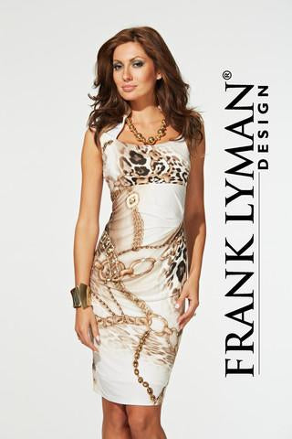 Classy as pictured chain print dress by Frank Lyman (31300)