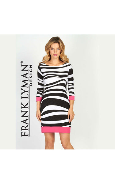 Pretty dress with asymmetrical stripes by Frank Lyman (56440)