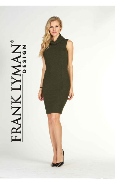 Comfortable and stylish olive dress by Frank Lyman (63524)