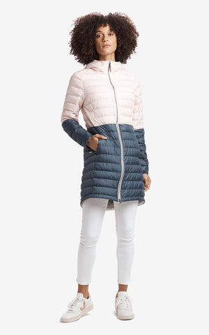 Lolë Down Spring Coat Claudia Colorblock luw0718