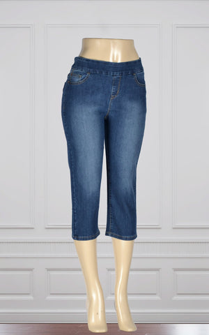Capri en jeans super confortable par Point Zero (8816027)