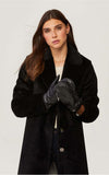 SOIA & KYO faux fur lined leather mittens Betrice