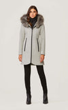 SOIA & KYO Wool Winter Coat Charlena (x-Silver fur)