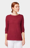 Tom Tailor Sweatshirt with Knitted Pattern 1012978