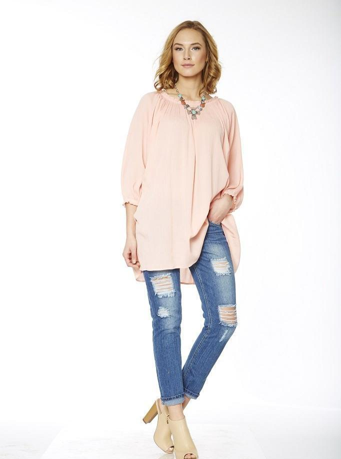 Breeze Top - Blush