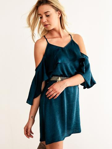 Nicole Dress - Hunter Green