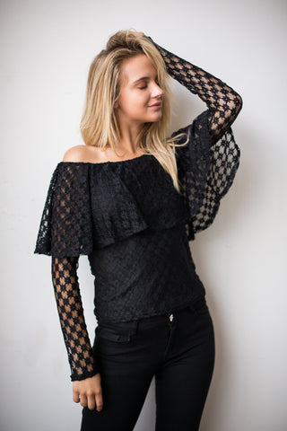 Elliot Top - Black Lace