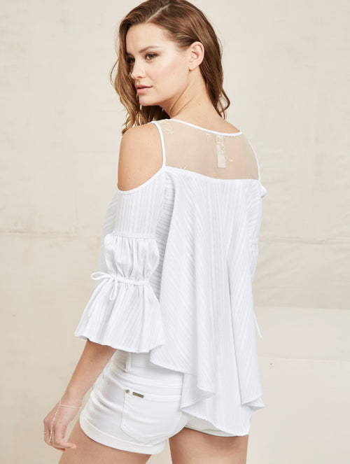 Indigo top - White