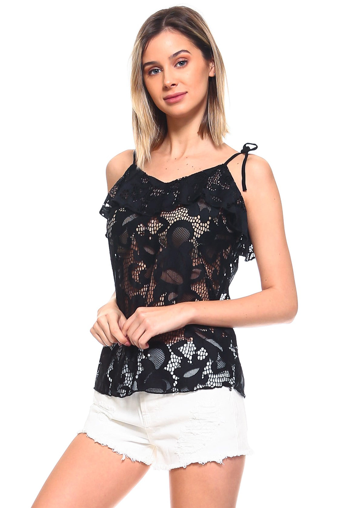 Alexis Top - Black Lace