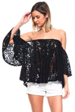 Rumor Top - Black Lace