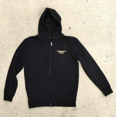 Zippered Fleece Hoodie