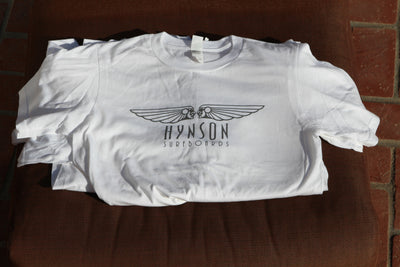 100% Organic Cotton Mike Hynson T-Shirts - White with Grey Logo