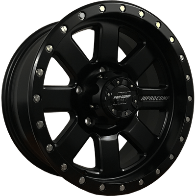 PRO COMP WHEELS - 17x8 47P 5X150 CB110.2 Series 74 TRILOGY Satin Black - MORE 4x4