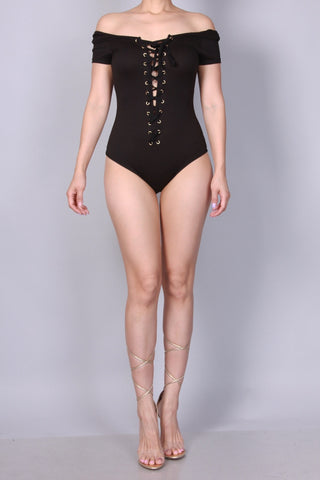 Lace up front Bodysuit