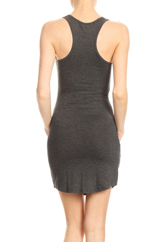 Knit Solid Scoop Neck Dress