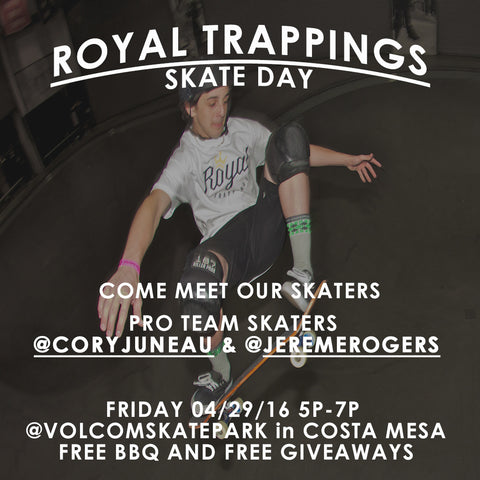 Cory Juneau Royal Trappings Volcom Skate Park Skate Day