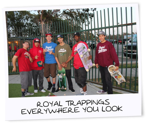 Royal Trappings RoyalTrappings Skate Team Rolls Deep