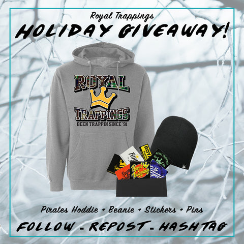 Royal Trappings Free Instagram Pirates Hoodie Giveaway Beanie Stickers Pins